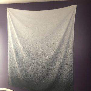 Silver Glitter Ombré Tapestry